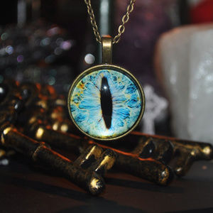 Jewelry - Gold Evil Eyeball Dome Necklace